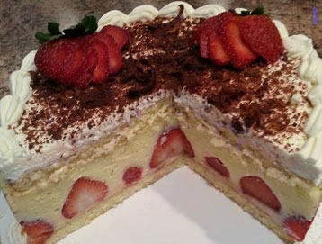 strawberry cake light homemade recipe